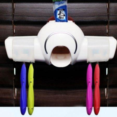 Fogkrém adagoló fogkefe tartóval