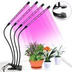Növény nevelő LED lámpa 4 fejű, hajlítható, csíptethető