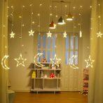 LED csillag/hold beltéri fényfüggöny