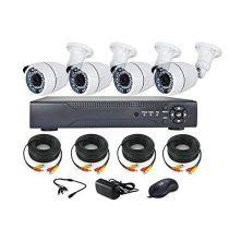 4 kamerás AHD DVR biztonsági megfigyelő kamera rendszer CCTV