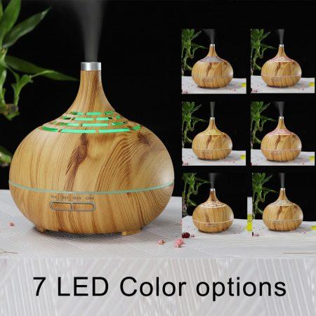 Design fahatású aromaterápiás párologtató távirányítóval / 400 ml