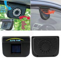 Autó ablakra rögzíthető napelemes ventilátor