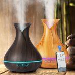 Ultrahangos aromaterápiás párologtató-távirányítós-550ml