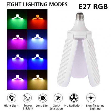 2 in 1 zenélő RGB ledlámpa / Bluetooth-os / E27 foglalatba