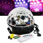 Távirányítós dekorációs Kristály Led gömb lámpa + MP3 lejátszó + Bluetooth + USB