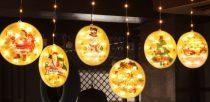 Beltéi Karácsonyi LED fényfüzér dekoráció2