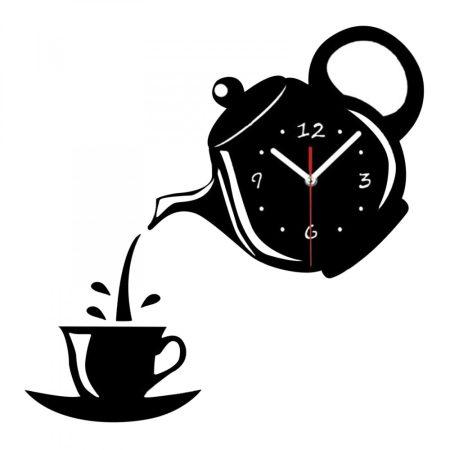 Csináld magad DIY falióra-Coffee Time