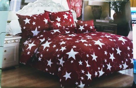 7 részes Csillagos Ágynemű Garnitúra-Piros