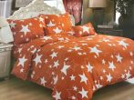 7 részes Csillagos Ágynemű Garnitúra-Narancs