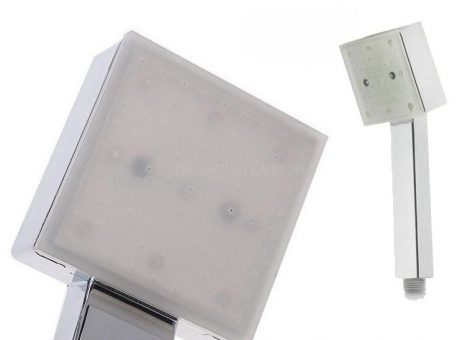 RGB LED zuhanyfej - Kocka design, fürödj a fényben!
