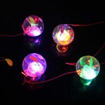 Csillámos világító pattogó színes labda 2 db/csomag