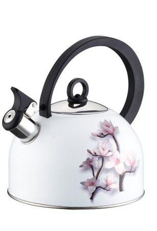 Virágmintás rozsdamentes acél teáskanna, 2,5 l
