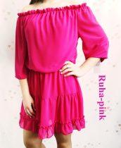 Alábélelt fodros nyári ruha