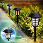 Napelemes kültéri lámpa szett, földbe szúrható / 6 db
