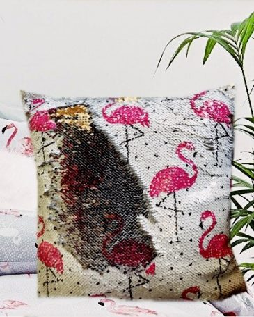 Flitteres Flamingó Párna párna