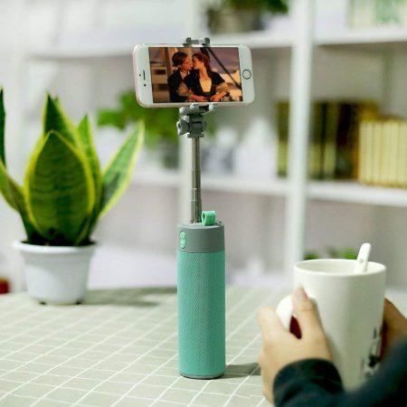 Bluetooth selfie bot power bankkal és hangszóróval