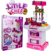 Gyermek konyha edénykészlettel - rózsaszín