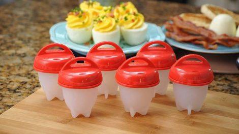 Szilikon tojás főző segéd - 6 db