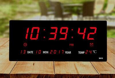Nagy LED kijelzős digitális óra / idő, dátum és hőmérséklet kijelzés
