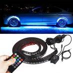 LED- es külső világítás autóra, több színű, távirányítóval