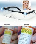 Nagyító szemüveg beépített LED világítással
