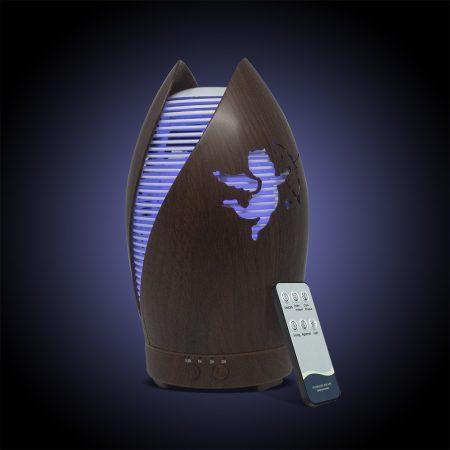 7 LED-es aroma diffúzor távirányítóval-motívummal