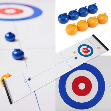Asztali curling játék / Kiteríthető pályával