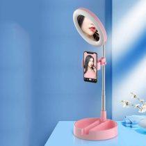 Smink tükör körfénnyel, állvánnyal és telefontartóval