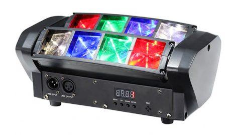 Dupla mozgó fejes Wash spider lámpa 8x3W RGBW CREE LED