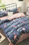 7 Részes Ágynemű Garnitúra Flamingó-kék