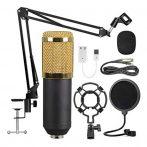 Stúdió mikrofonkészlet szűrővel- kondenzátor mikrofon
