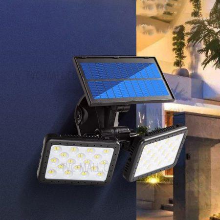 Napelemes kültéri lámpa - PIR sensor és CDS éjszakai szenzor