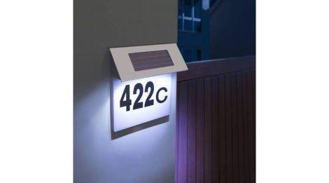 Dekor napelemes LED házszámtábla