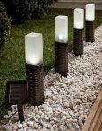 Kerti napelemes LED Rattan világítás 4 db/csomag