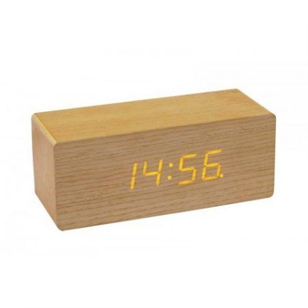 Clock Wood kocka/téglalap Óra- Modern, Egyedi, Lenyűgöző