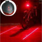 Lézeres kerékpár lámpa - Innovatív újdonság!