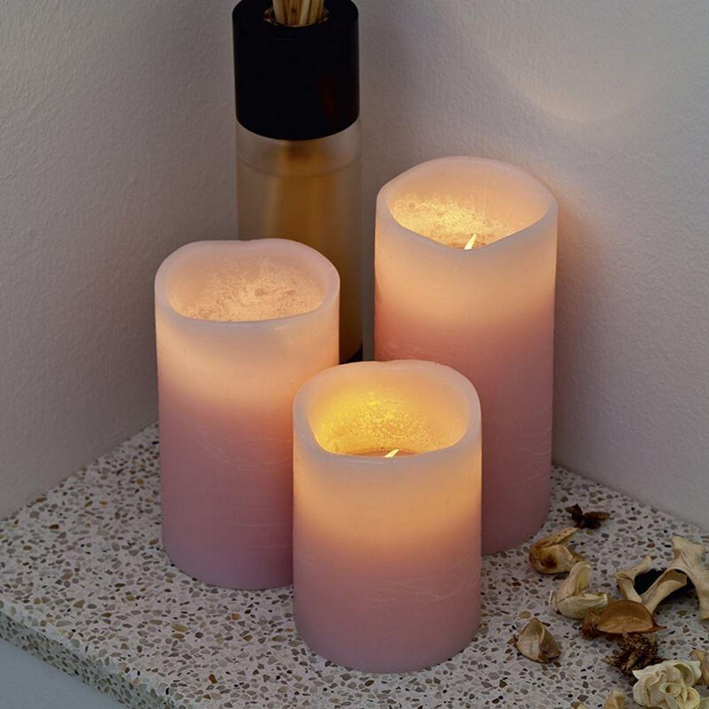 Image of 3 darabos illatos LED gyertya szett távirányítóval